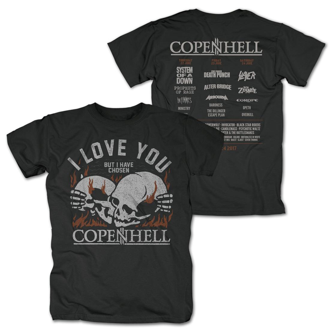 √I Love You von Copenhell Festival - T-Shirt jetzt im Copenhell Shop
